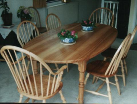 A set of Windsor chairs in Ash wood