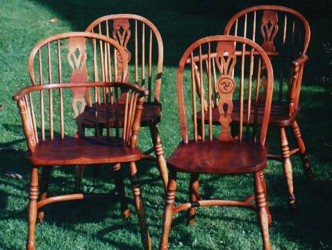 A set of English style Windsor Chairs
