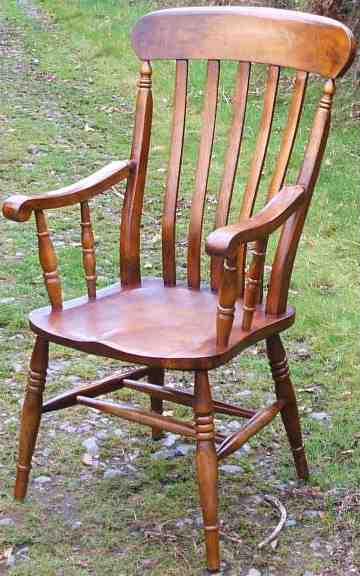 Gentil Windsor Lath Back Carver Chair