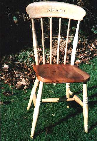 A comb back kitchen chair to celebrate the millenium